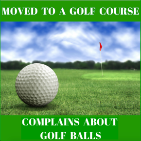 Buys Home On Golf Course, Complains About GolfBalls