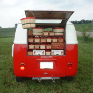 Strawberries in a VW 1963 Bus