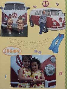 Little Girls and a VW Bus