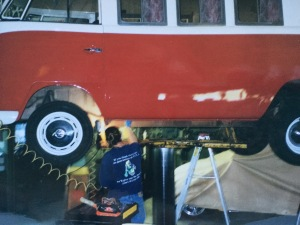 Working on the VW Bus