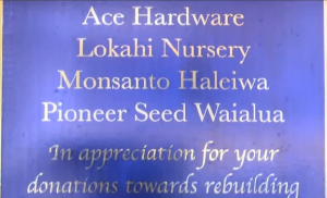 Monsanto Thank You Plaque