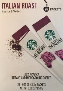 Starbucks Via Packets