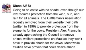 Up next, take down of the cattle industry