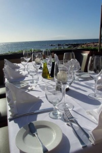 Wailea beach dinner table