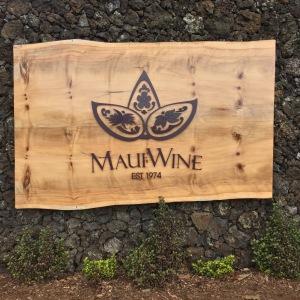 Maui Wine Sign